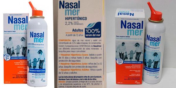 Spray nasal descongestionante Nasalmer para adultos de 125 ml barato