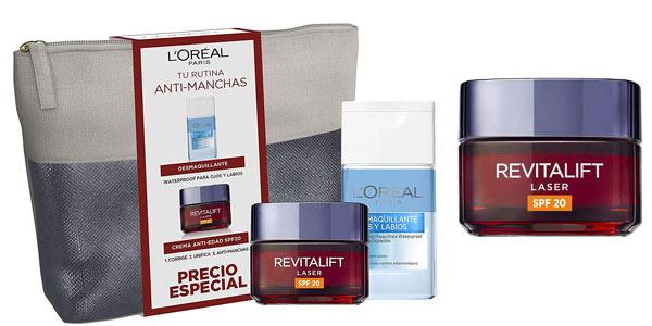 Neceser L'Oreal Paris Dermo Expertise Revitalift Láser crema de día con desmaquillante barato en Amazon