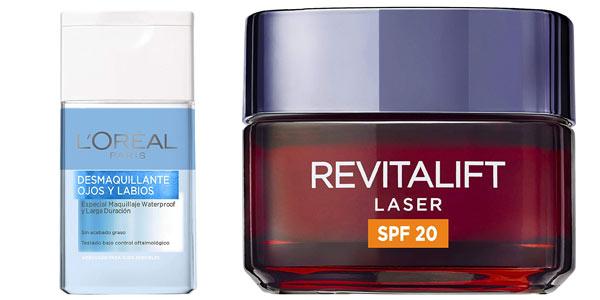Neceser L'Oreal Paris Dermo Expertise Revitalift Láser crema de día con desmaquillante en oferta en Amazon