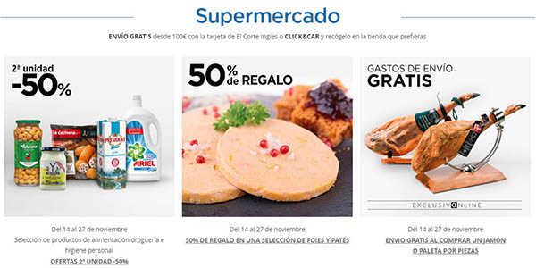 ofertas supermercado Hipercor para el Black Friday 2019