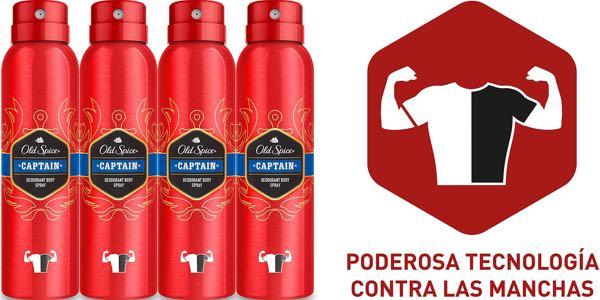 Old Spice Captain desodorante spray de 150 ml barato en Amazon