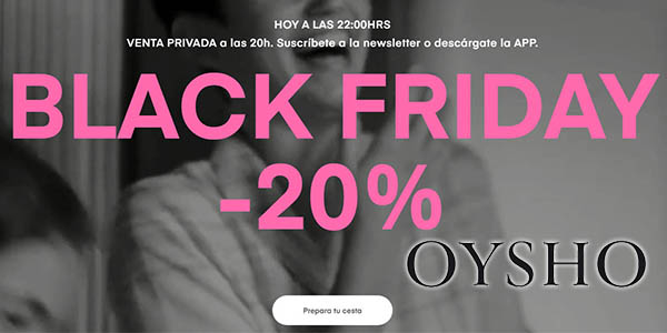 Oysho Black Friday 2019