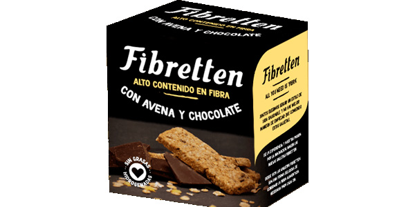 Pack x10 Fibretten Galletas Avena y Chocolate de 240 gr/ud chollo en Amazon