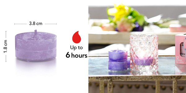Pack x12 velas de té Yankee Candle Lavanda y Roble chollo en Amazon