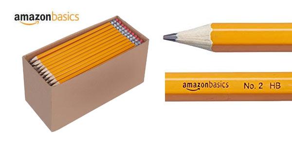 Pack de 150 lápices de madera AmazonBasics baratos en Amazon