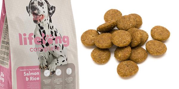 Pack x2 Envases Comida Seca Lifelong Complete Salmón & Arroz de 5 kg/ud Perros Adultos chollo en Amazon