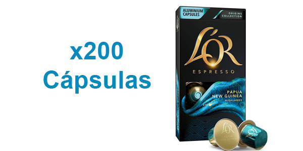 Pack x200 cápsulas L'Or Espresso Café Papua Nueva Guinea Intensidad 7 barato en Amazon