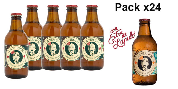 Pack x24 Cerveza Artesana La Virgen 360º de 250 ml/ud barato en Amazon