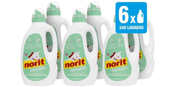 Norit Detergente Especial Pieles Sensibles Pack 240 lavados barato en Amazon