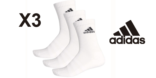 Pack x3 Calcetines adidas Cushioned Crew barato en Amazon