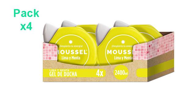 Pack x4 Gel de ducha Moussel Lima y Menta de 600 ml/ud barato en Amazon