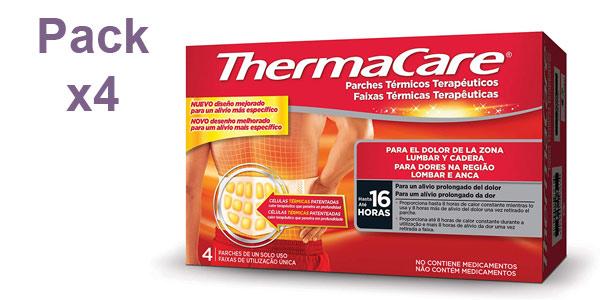 Pack x4 Parche Térmico Terapéutico Thermacare para el Dolor Lumbar y Cadera barato en Amazon