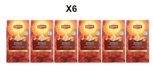 Pack x6 Estuches Lipton Selección Exclusiva Infusión African Rooibos barato en Amazon