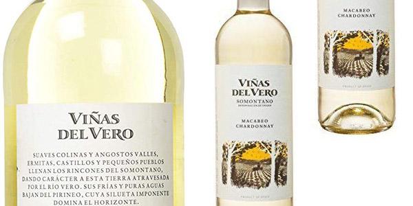 Pack x6 Viñas Del Vero Macabeo-Chardonnay D.O. Somontano de 750 ml chollo en Amazon