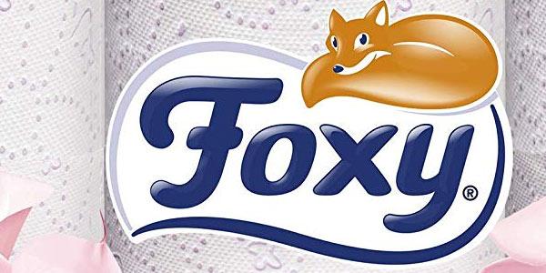 Pack de 18 rollos papel higiénico Foxy Seda en oferta en Amazon