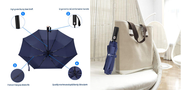 Paraguas Plegable compacto Veperain Paraguas chollo en Amazon