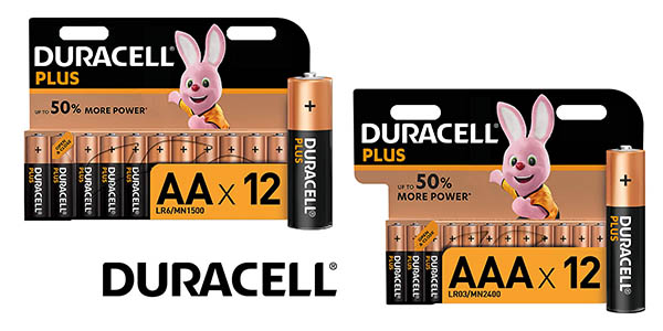 Duracell pilas alcalinas pack oferta