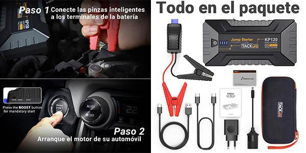 pinzas con arrancador de batería para el coche Tacklife con cupón descuento en Amazon