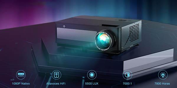 Proyector YABER Full HD 6000 lúmenes barato