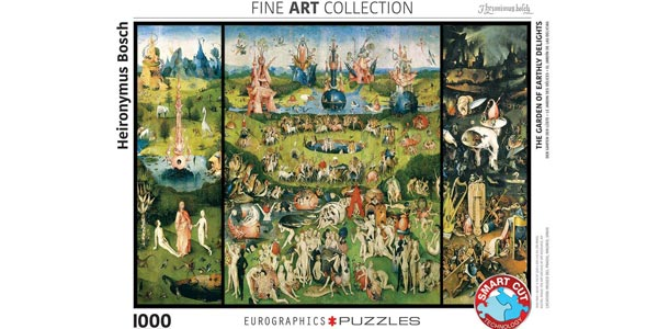 Puzle 1.000 Piezas The Garden of Earthly Delights Fine Art Collection de Eurographics Puzzles chollo en Amazon