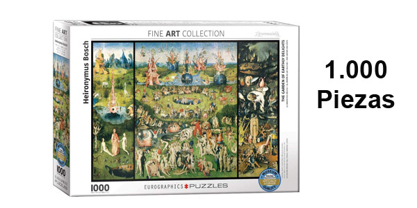 Puzle 1.000 Piezas The Garden of Earthly Delights Fine Art Collection de Eurographics Puzzles barato en Amazon