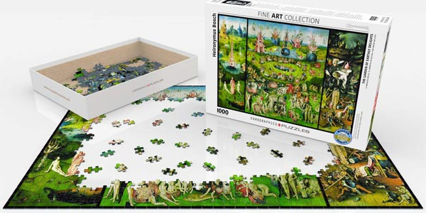 Puzle 1.000 Piezas The Garden of Earthly Delights Fine Art Collection de Eurographics Puzzles chollazo en Amazon