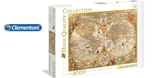 Puzle de 2000 Piezas Clementoni 32557 Mapa Antiguo de Pietrus Plancius barato en Amazon
