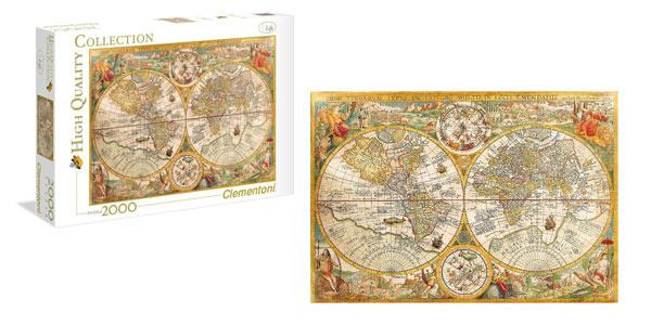 Puzle de 2000 Piezas Clementoni 32557 Mapa Antiguo de Pietrus Plancius chollazo en Amazon