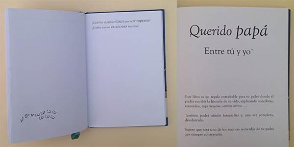regalo Libro Cuéntame tu vida chollo