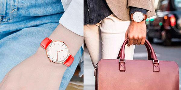 Reloj de pulsera Zwbfu ultra delgado unisex barato