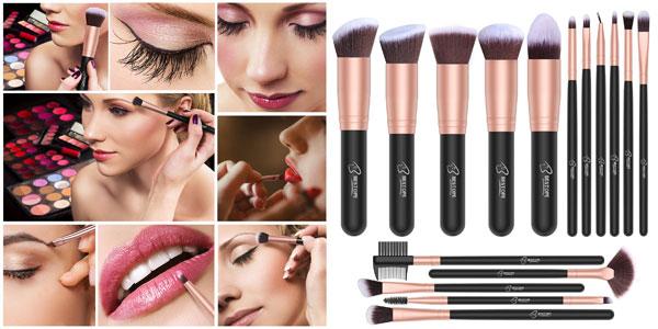 Set x16 brochas de maquillaje profesional BESTOPE 16 barato en Amazon