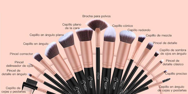 Set x16 brochas de maquillaje profesional BESTOPE 16 chollo en Amazon