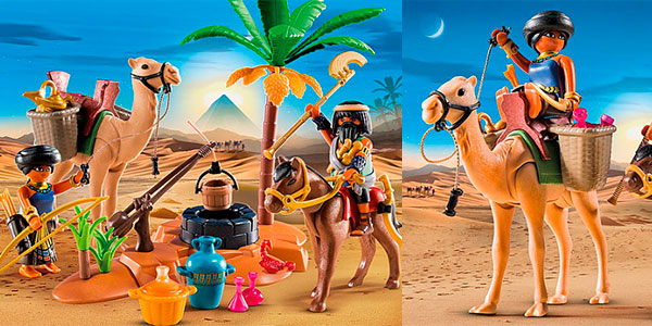 Set Campamento egipcio de Playmobil con 2 figuras barato