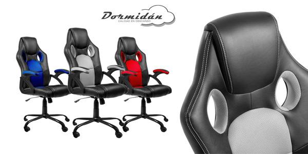 Silla de oficina Racing Gaming SR-1 de altura ajustable barata en eBay