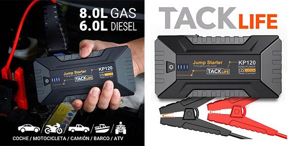 Tacklife arrancador de batería para el coche barato