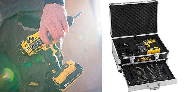 Taladro percutor Stanley Fatmax FMCK625D2F 8V con 2 baterías y maletín barato