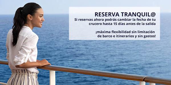 tarifas flexibles MSC Cruceros ofertas black friday 2020