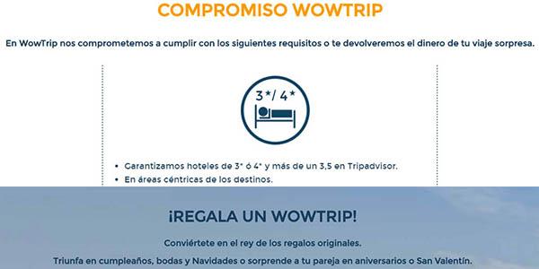 viajes sorpresa Wowtrip con código descuento Navidad