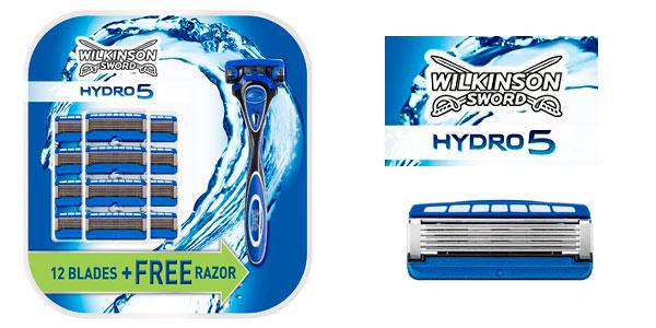 Pack cuchilla Wilkinson Sword Hydro 5 + 13 recambios a buen precio en Amazon