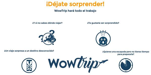 Wowtrip código descuento Navidad en packs de viajes sorpresa