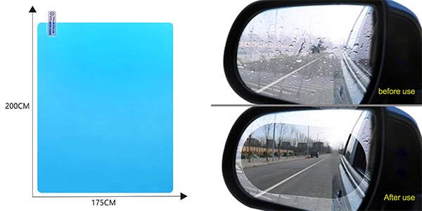 adhesivos transparentes antilluvia para retrovisores de coche Kkmoon oferta