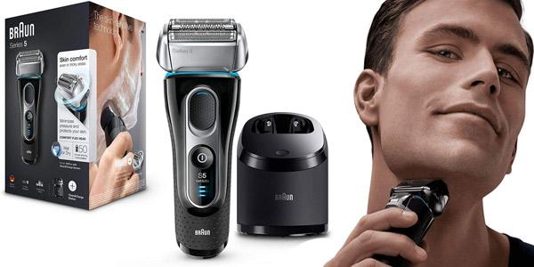 Afeitadora eléctrica Braun Series 5 5197 Clean&Charge para hombre barata en Amazon