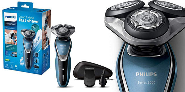 Afeitadora inalámbrica Philips S5630/45 Wet & Dry barata en Amazon