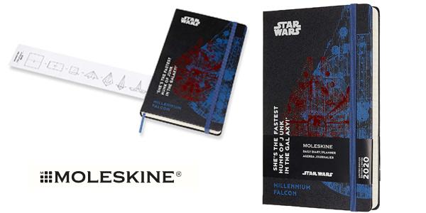 Agenda de 12 Meses para 2020 Moleskine Star Wars Edición Especial Halcón Milenario barata en Amazon
