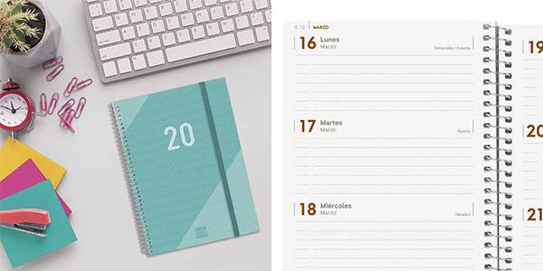 agenda Finocam 2020 con hojas semana a vista chollo