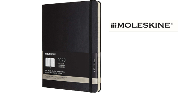 Agenda semanal vertical Moleskine Pro Weekly 2020 XL barata en Amazon