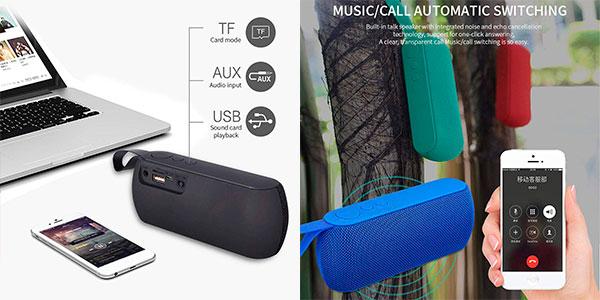 Altavoz portátil Bluetooth estéreo pioleUK con carga por USB barato