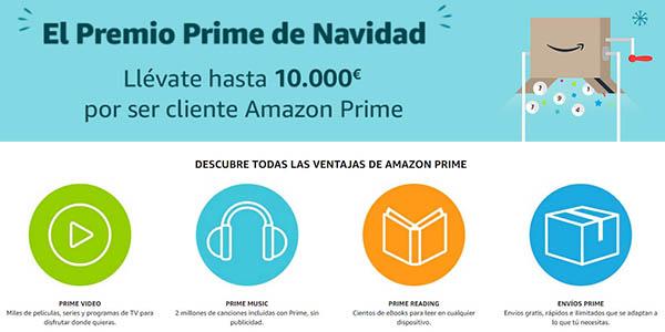 Amazon Prime Premio Navidad cheques regalo