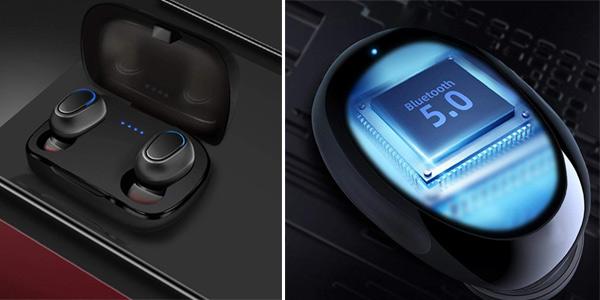 Auriculares inalámbricos Bluetooth 5.0 con base de carga Kloius chollo en Amazon