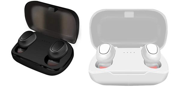 Auriculares inalámbricos Bluetooth 5.0 con base de carga Kloius baratos en Amazon